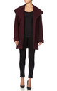 Sarah Wine Oversized Hooded Coat by De La Creme Fashions