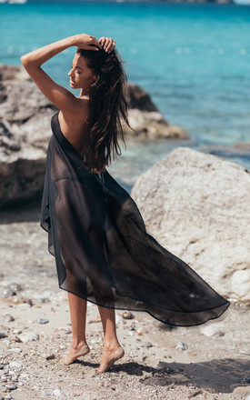 Black Sirena Dress by Natasha Kieran Product photo