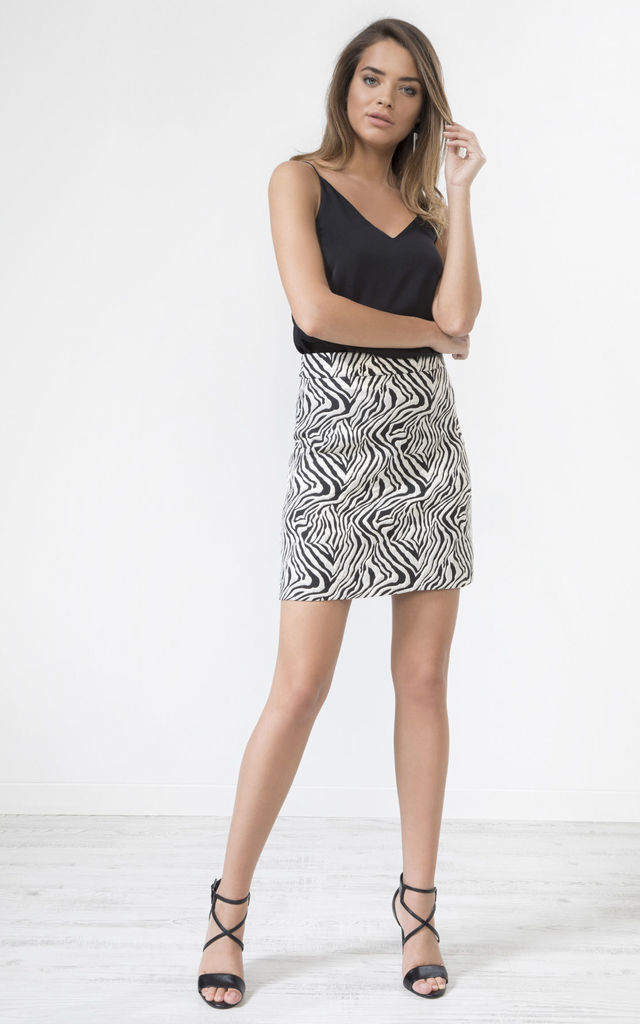 Leopard Print Midi Skirt by URBAN TOUCH
