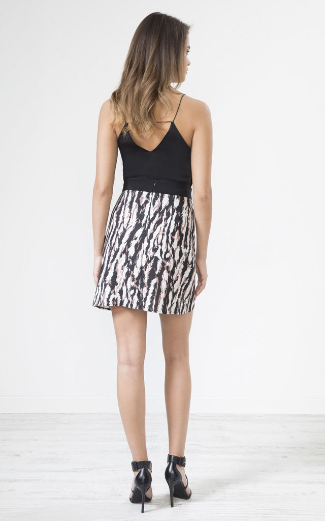 Leopard Print Mini Skirt by URBAN TOUCH