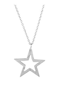 Cosmic Open Star Necklace Silver by Latelita Product photo