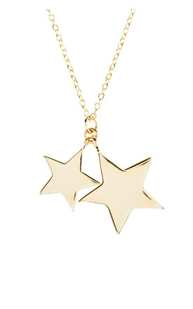 Gold Chain Necklace With Double Star Pendants by Latelita Product photo