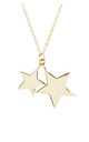 Gold Chain Necklace with Double Star Pendants by Latelita London