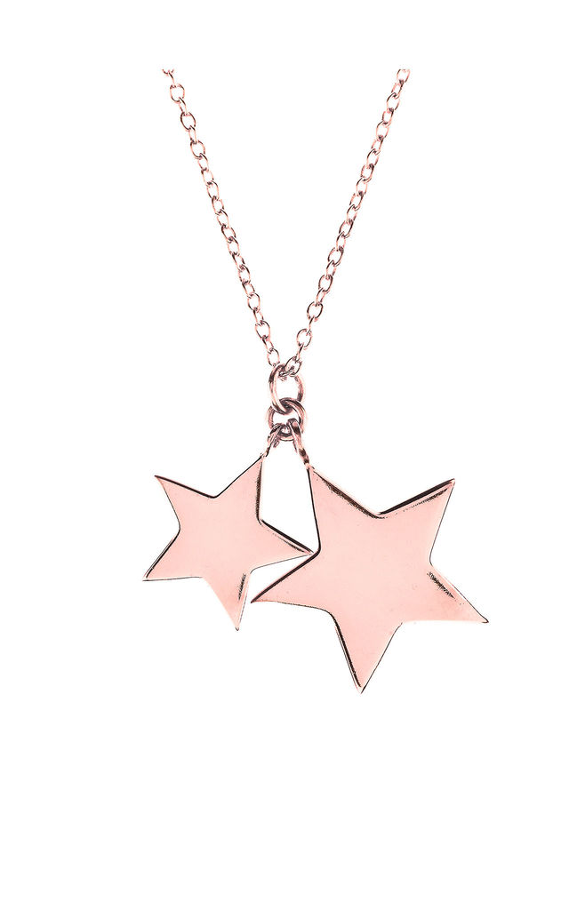 Double Star Necklace Rosegold by Latelita