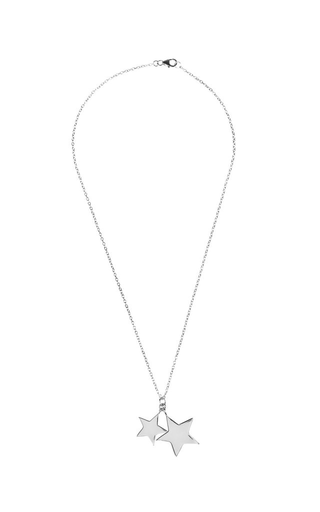Double Star Necklace Silver by Latelita London
