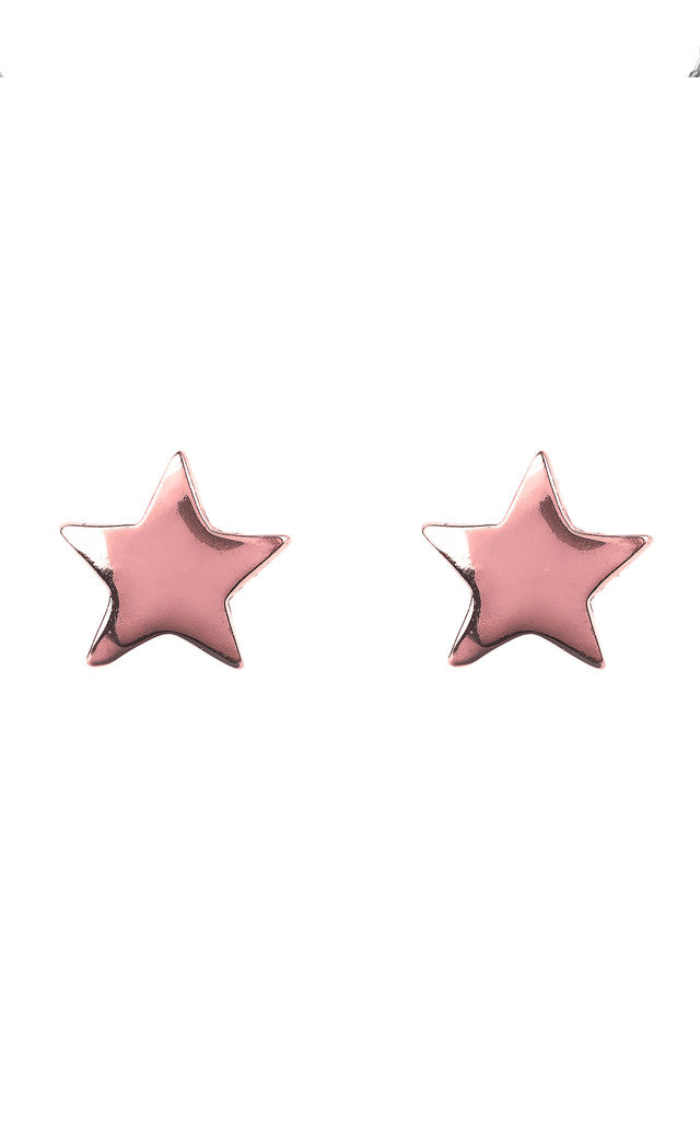 Mini Star Stud Earring Rosegold by Latelita London