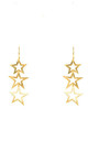 Triple Open Star Earring Gold by Latelita