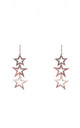 Triple Open Star Earring Rosegold by Latelita