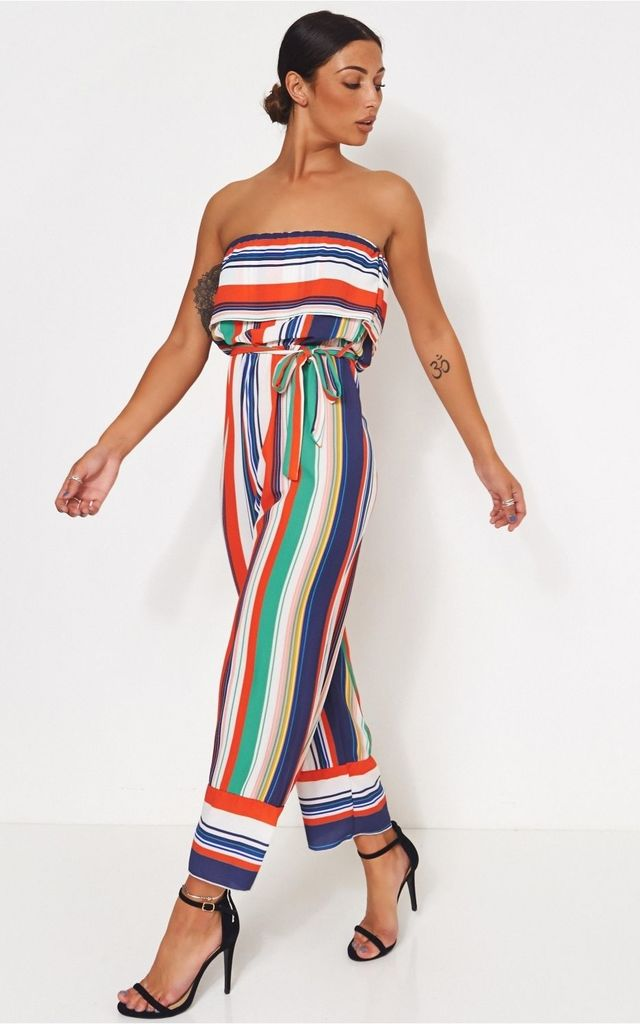 Green Stripe Jumpsuit by The Fashion Bible