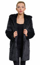 Felicia Luxury Grey Faux Fur Hooded Coat by De La Creme Fashions