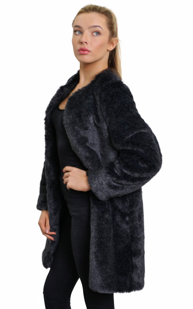 Tatiana Grey Luxury Faux Fur Coat by De La Creme Fashions