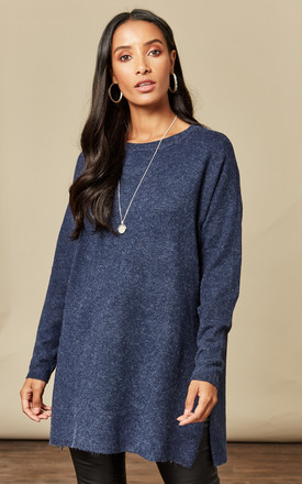 Navy Long Sleeved Open Neck by VM Product photo