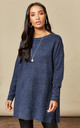 Navy Long Sleeved Open Neck by VM