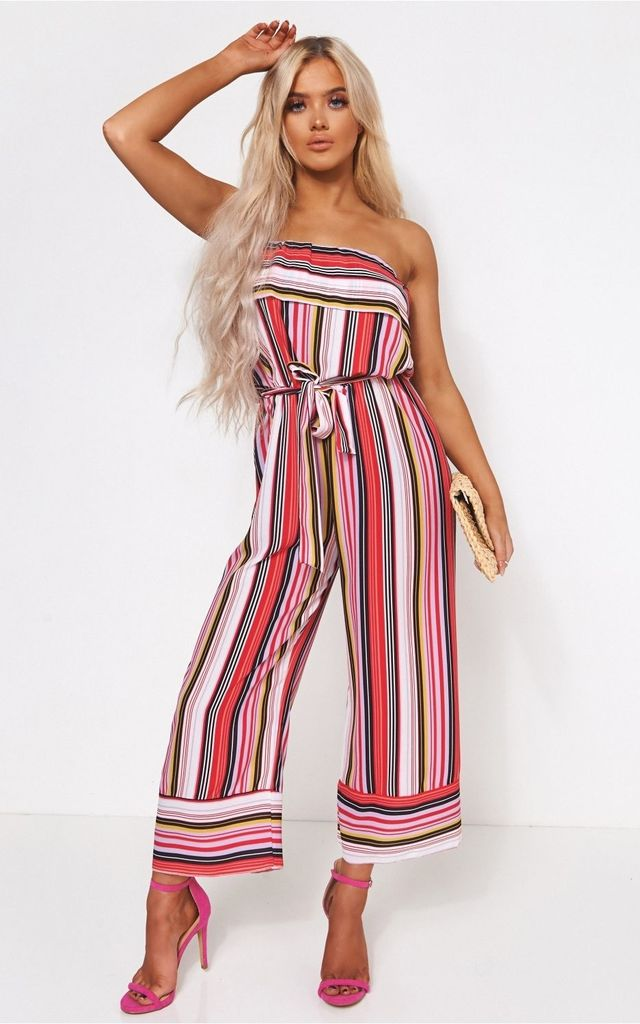 Pink Stripe Jumpsuit by The Fashion Bible