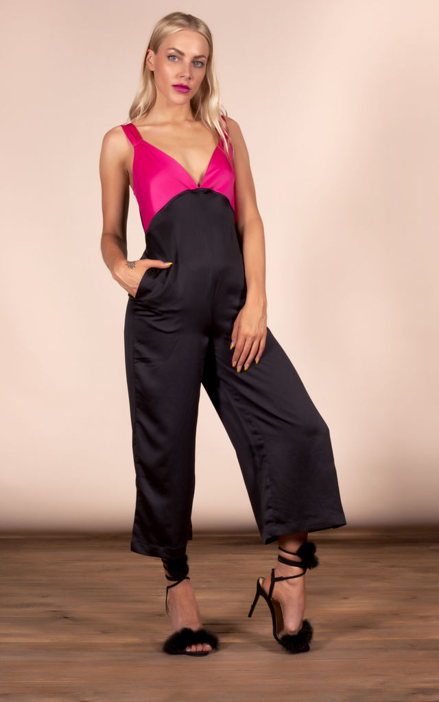 ROCCO JUMPSUIT IN PINK & BLACK MIX image