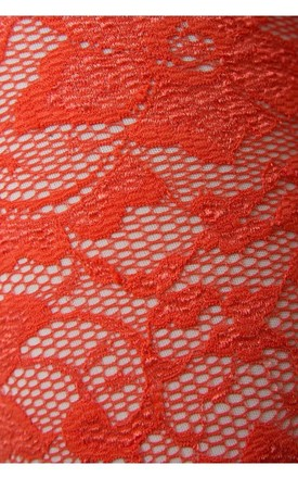 Orange Delight Lace Jumpsuit by The Fashion Bible