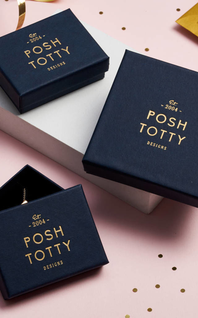 Bead Hoop Earrings in 18ct Rose Gold by Posh Totty Designs