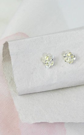 Flower Stud Earrings in 925 Sterling Silver by Posh Totty Designs