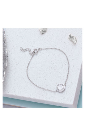 Cubic Zirconia Sterling Silver Bracelet by Inscripture
