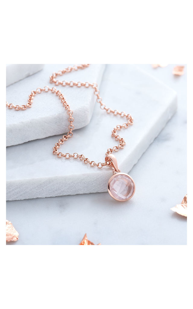 Rose Gold Quartz Necklace by Inscripture