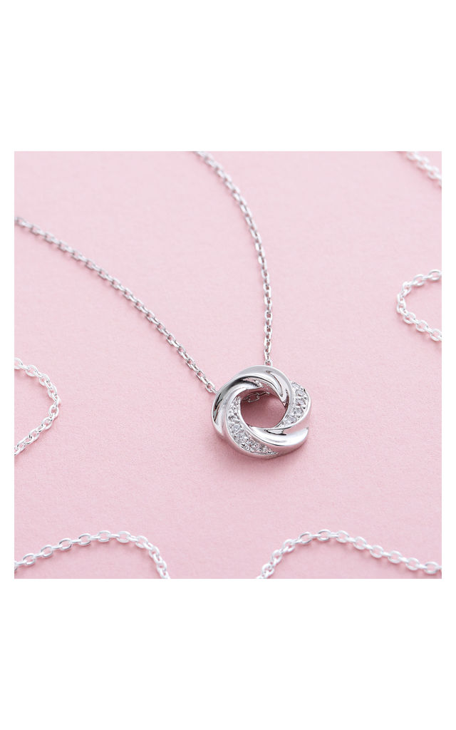 Open Knot Necklace by Inscripture