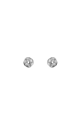 Sterling Silver Knot Earrings by Inscripture