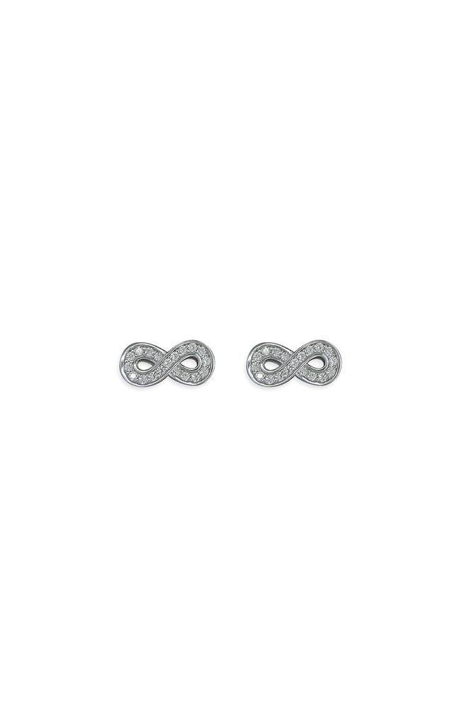 Cubic Zirconia Infinity Studs by Inscripture