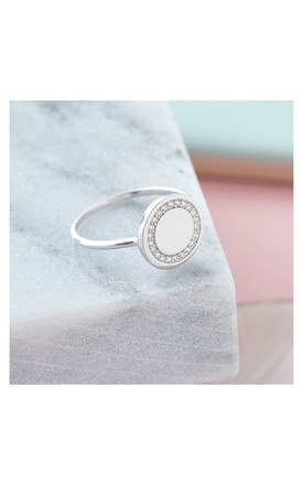 Sterling Silver Halo Ring by Inscripture