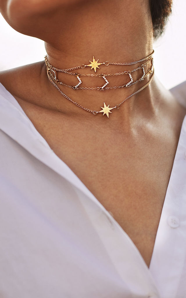 Star Burst Choker Necklace by HAUS OF DECK