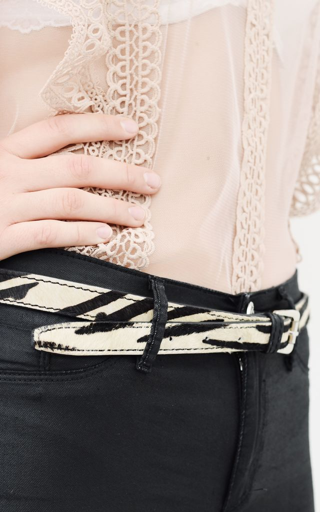 Zebra Print Belt by The Foundry Design