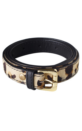Leopard Leather Belt by The Foundry Design