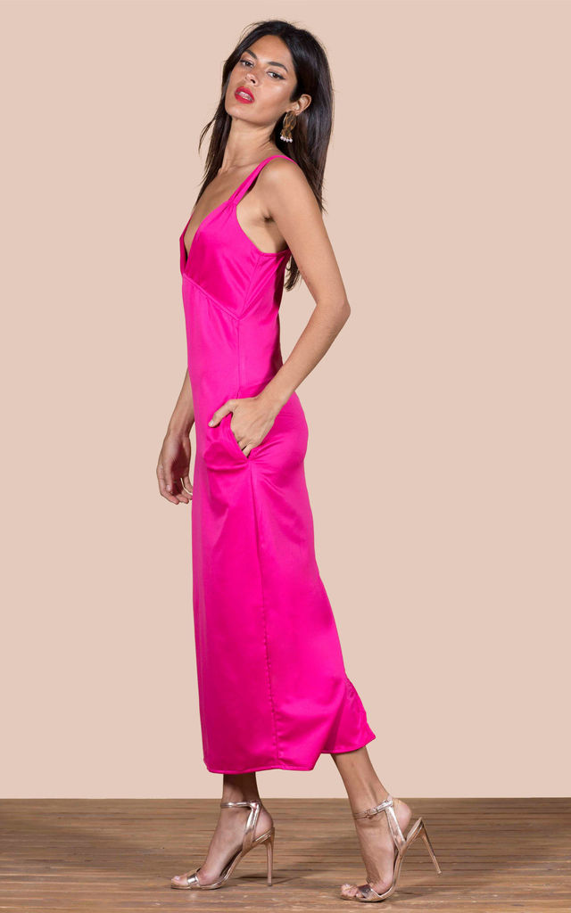 Venice Dress in Hot Pink image