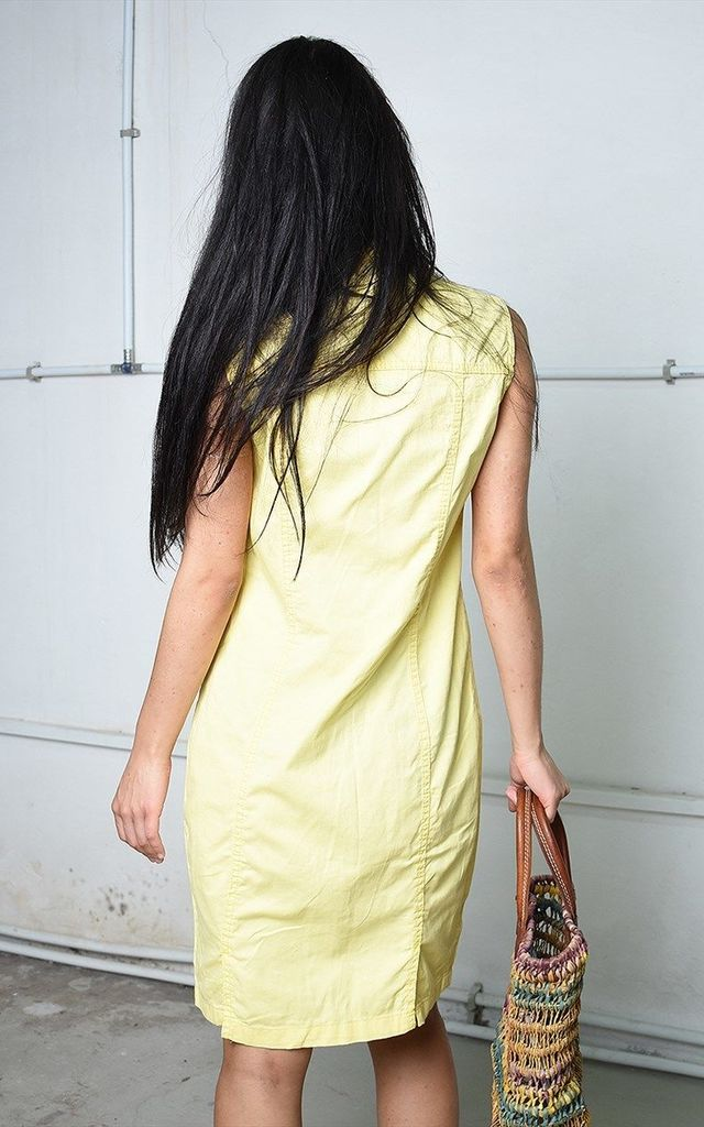 Vintage 90's Paris chic mini dress in yellow denim by Lover