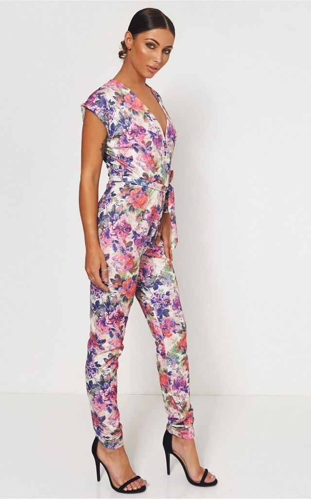Pink Floral Jumpsuit by The Fashion Bible