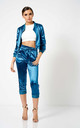 Blue Satin Co-Ord Tracksuit Jacket by Club L London