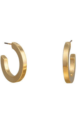 Bold Hoop Earrings in gold by DOSE of ROSE