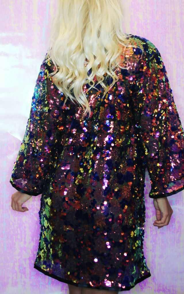 PEGASUS Kimono in Dangle Midnight Sequin by Loonigans