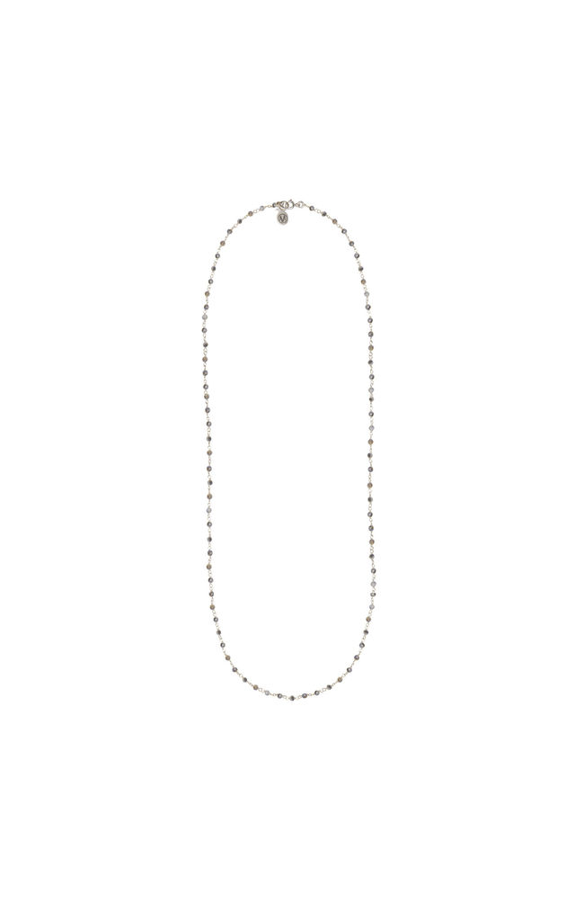 Long silver necklace by Amadoria