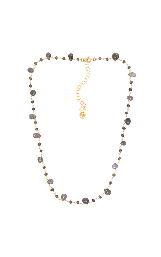 Rosario Necklace in Gold/Lolite by Amadoria
