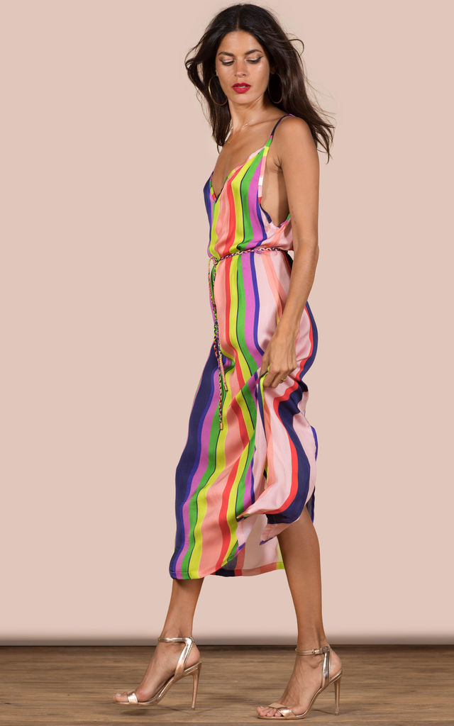'Exclusive' Jaguar Slip dress Stripe image