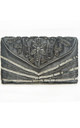 Victoria Small Embellished Gatsby Clutch Purse in Grey by Jywal