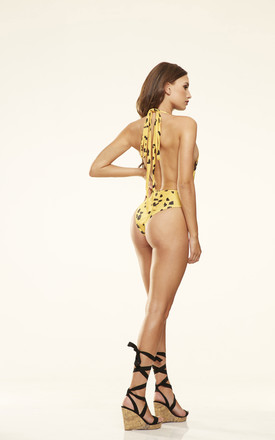 Leopard Print Plunge Swimsuit by Candypants