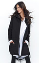 Black Long Hoodie Without Fastening by Makadamia