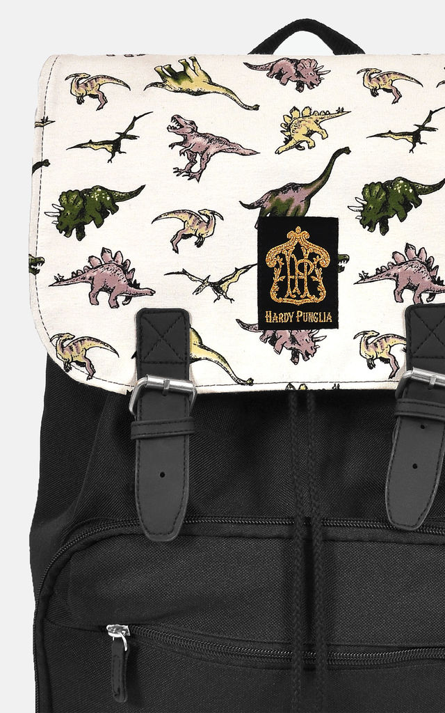 Dinosaur panel laptop backpack by The Left Bank