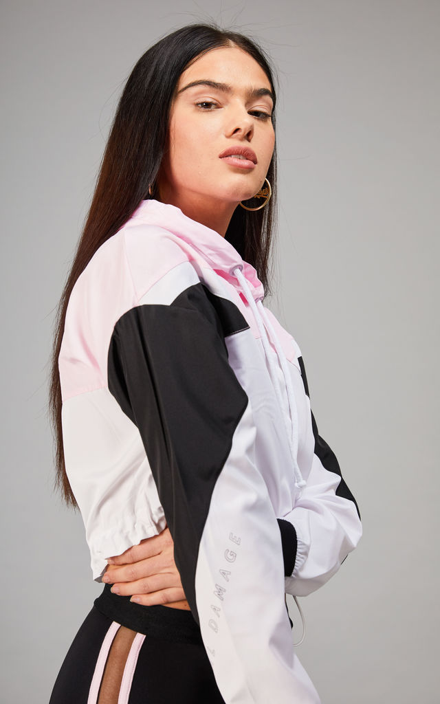 MALMO CROP HOOD PINK by Criminal Damage