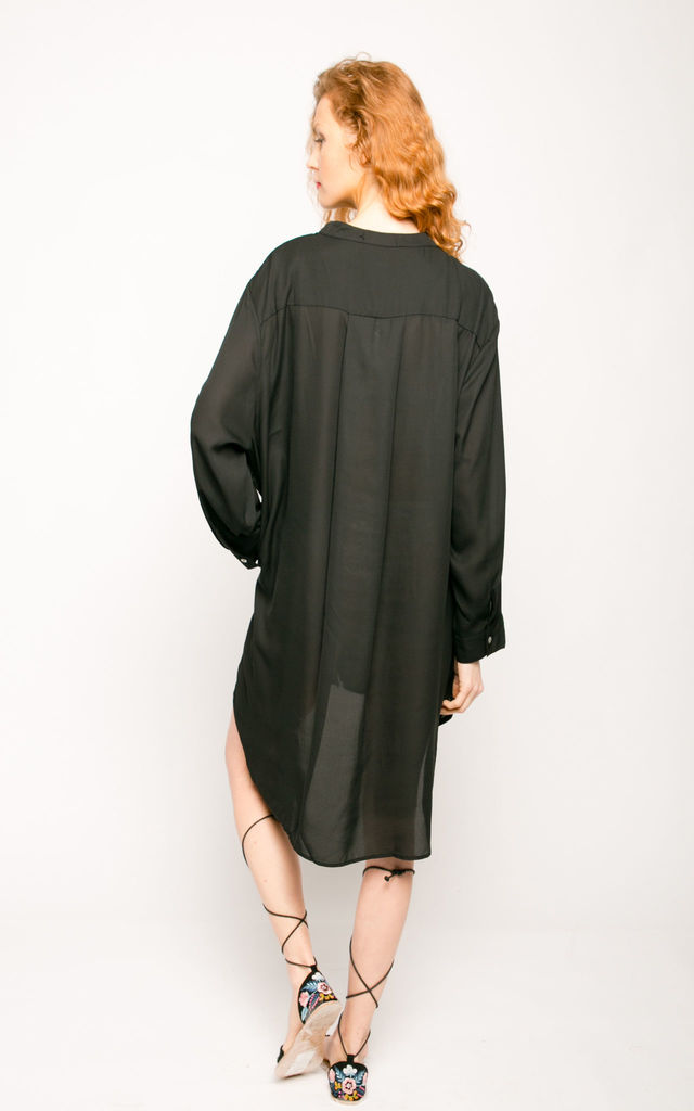 Oversized Long Sleeve Dress in Black by CY Boutique