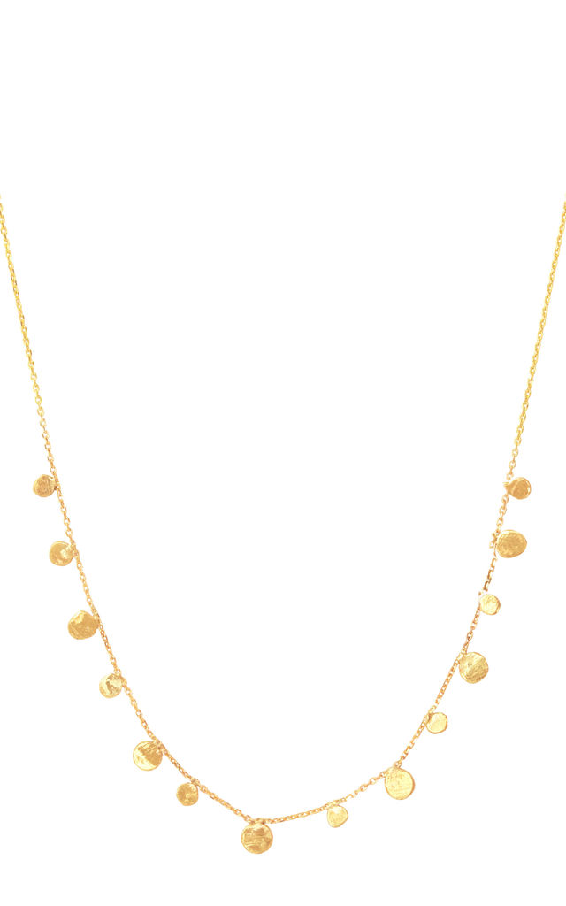 Scattered Stars Demi Solid Gold Necklace by Lily Flo Jewellery