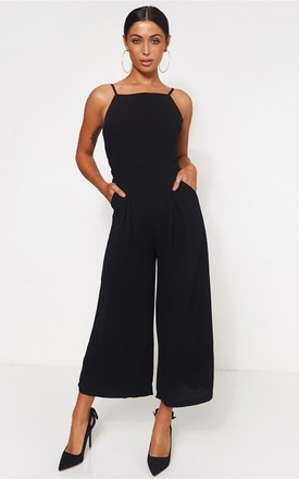 Idra Black Bow Back Jumpsuit by The Fashion Bible