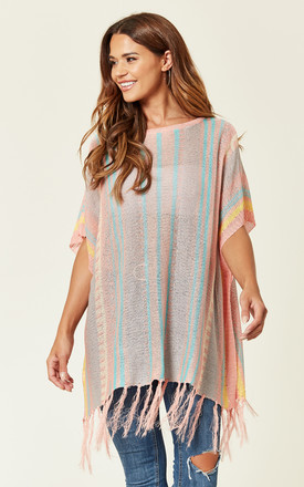 Light Fringe Detailed Oversized Top by ROSELLIN