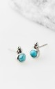 Stud earrings in turquoise by Charlotte's Web